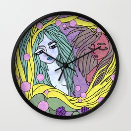 Forest Nymphs Wall Clock