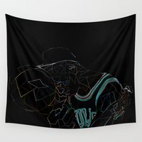 work hard Wall Tapestries featuring HARD WORK by Asta Dagmar