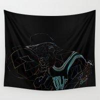work hard Wall Tapestries featuring HARD WORK by Asta Dagmar