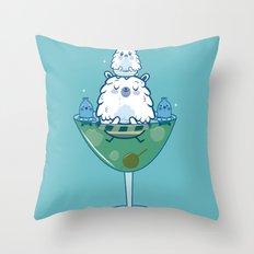 Martini PBear Throw Pillow