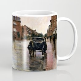 Rainy Day, Boston - Digital Remastered Edition Coffee Mug