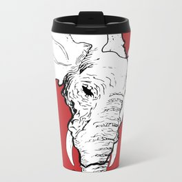 African Elephant Metal Travel Mug