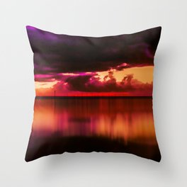 Another Place at Sunset Throw Pillow