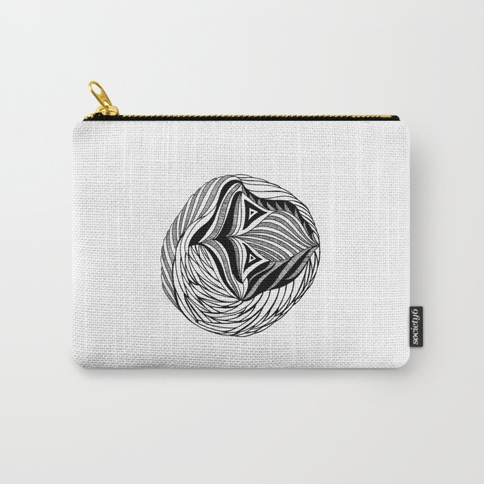 Zentangle Circle Carry-All Pouch