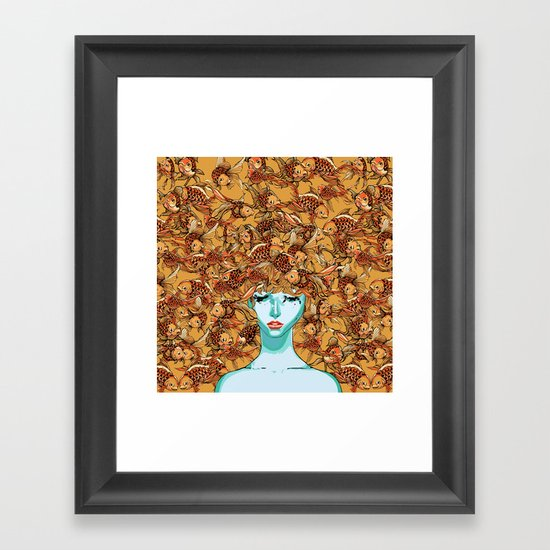 Head up, love Framed Art Print