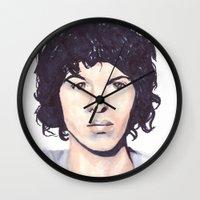 luke hemmings Wall Clocks featuring Luke by Daniela Herodesová