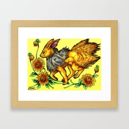 Evolve the Rainbow - Jolteon Framed Art Print