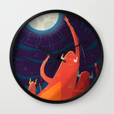 :::Touch the Moon::: Wall Clock