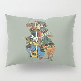 Samurai and Pug Pillow Sham