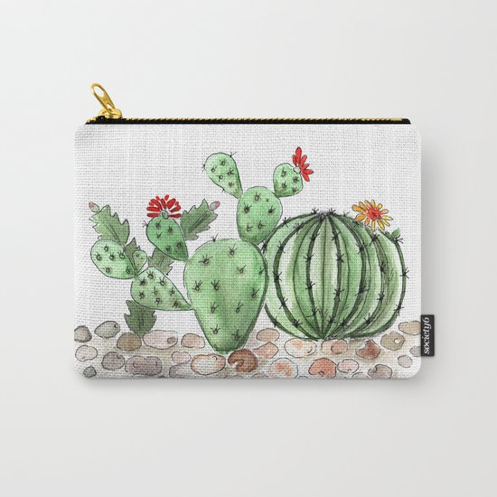 Cactus watercolor illustration Carry-All Pouch