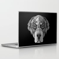 rottweiler Laptop & iPad Skins featuring Ornate Rottweiler by Adrian Dominguez