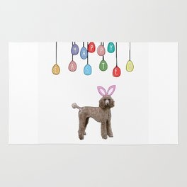 Happy Easter - Poodle Bunny Rug