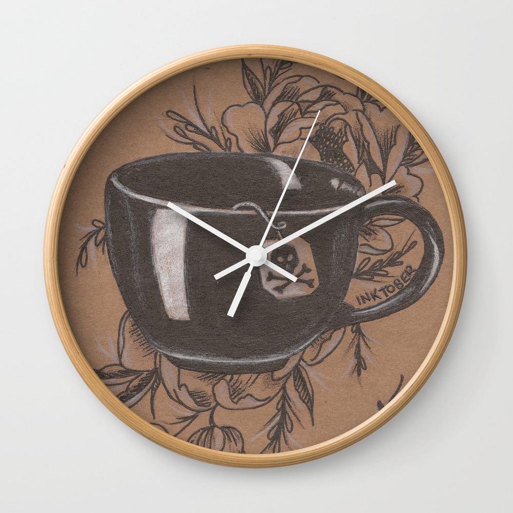 Not Everyone's Cup Of Tea Wall Clock by Jadepowelljones CLK7893902