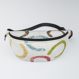 Vintage horseshoes seamless pattern Fanny Pack