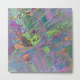 Abstract Thoughts 2 - Textured, painting Metal Print