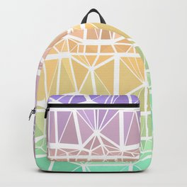 Low Poly Purple, Orange, and Green Gradient Backpack