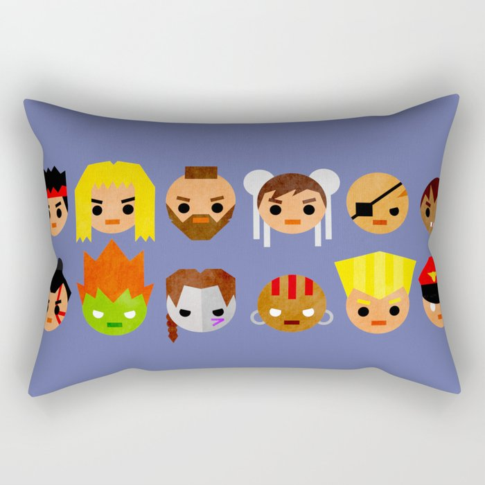 Street Fighter 2 Mini Rectangular Pillow