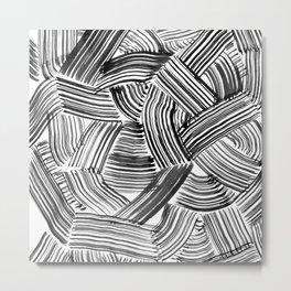 Tangled Brushstrokes Metal Print
