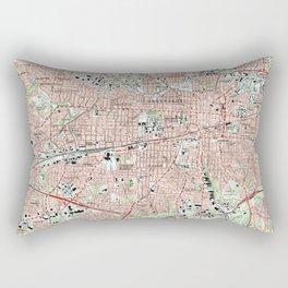 Greensboro North Carolina Map (1997) Rectangular Pillow
