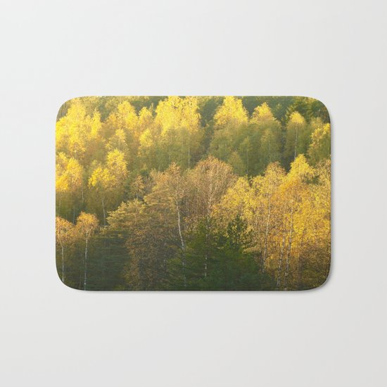Forest In Sunset Tones  Bath Mat