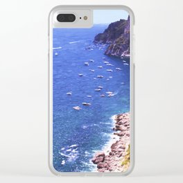 Mediterranean Of Boats Clear iPhone Case