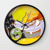 the thing Wall Clocks featuring wild thing by Matthias Hennig