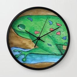 Pushmepullyou Frog Wall Clock