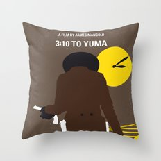 No726 My 310 to Yuma minimal movie poster Throw Pillow