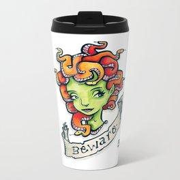 Beware Medusa Girl Metal Travel Mug