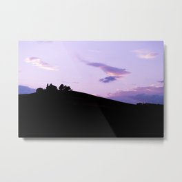 Tuscan Sunset in Purple Metal Print