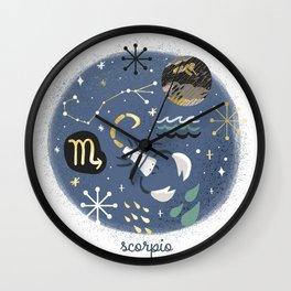 Scorpio Water Wall Clock