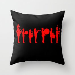 Marching bands black Throw Pillow