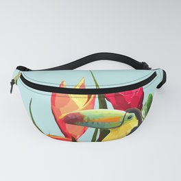 Toucan Tropical Banana Leaves Bouquet Fanny Pack