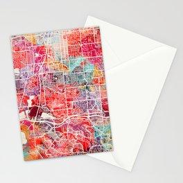 Littleton map Colorado CO 2 Stationery Cards