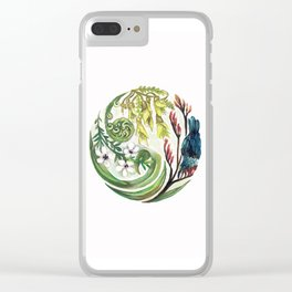 Kiwiana Wreath Clear iPhone Case