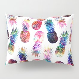watercolor and nebula pineapples illustration pattern Pillow Sham