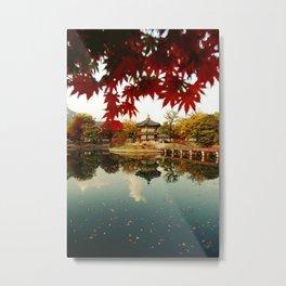 Autumn Gyeongbokgung palace, Seoul, Korea Metal Print