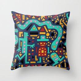 2D Garden (Night Edition) Throw Pillow