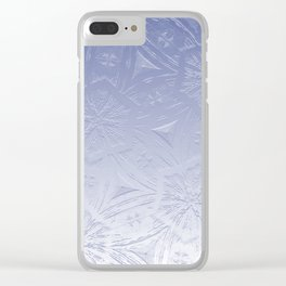 Lavender Hexagon Crystal Clear iPhone Case