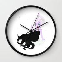 ursula Wall Clocks featuring Ursula by Sara Showalter