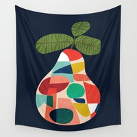 pear Wall Tapestries featuring Fresh Pear by Picomodi