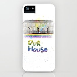 Our Rainbow House iPhone Case