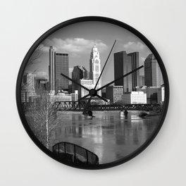 Columbus Ohio 3 - B&W Wall Clock