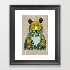 Hello, Bear Framed Art Print
