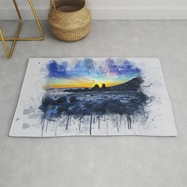 Ocean Sunset Painting Rug
