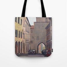 STREET SCENE, Bologna Travel Sketch by Frank-Joseph Tote Bag