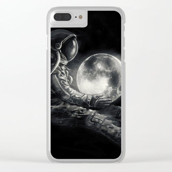 Moon Play Clear iPhone Case