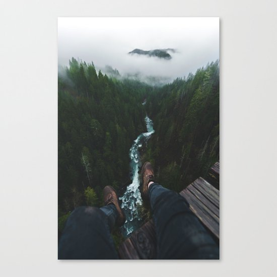 See you at the top! | Vance Creek Bridge - Olympic National Park, WA Canvas Print