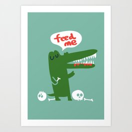 Hungry Hungry Alligator Art Print