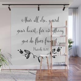 Guard Your Heart Wall Mural
